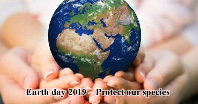 """22 април – Световен ден на Земята мото """"Защитете  нашите видове"""""""